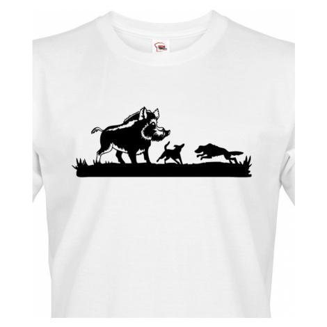 Tričko pro myslivce Lov divokých prasat - ideální dárek k narozeninám BezvaTriko
