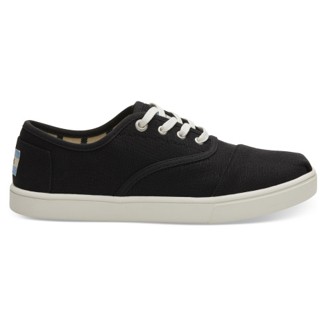 Black Heritage Canvas Women Cord Sneak Toms