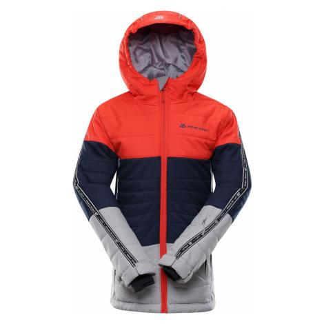 ALPINE PRO WIREMO 3 Dětská lyžařská bunda KJCP155344 cherry tomato