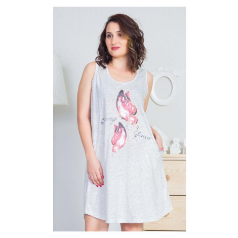 Dámské domácí šaty na ramínka Forever, 3XL, smetanová Vienetta Secret