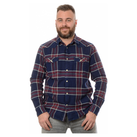 Košile Wrangler Western pánská tmavě modrá