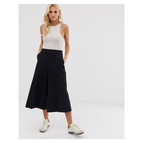 ASOS DESIGN tailored clean culottes-Black