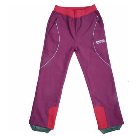 Dívčí softshellové kalhoty, zateplené - Wolf B2092, fialovorůžová