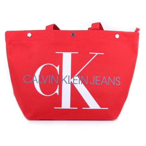 Calvin Klein dámská červená kabelka Canvas