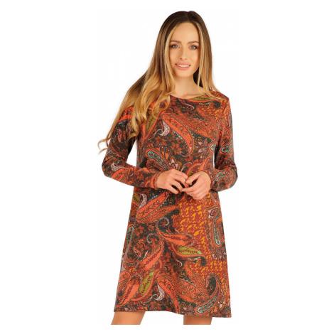 LITEX Šaty dámské s dlouhým rukávem 7A012999 tisk