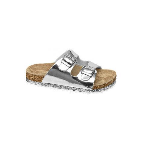 Stříbrné dívčí pantofle Graceland