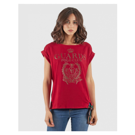 Tričko La Martina Woman T-Shirt S/L - Červená