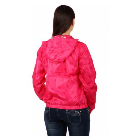 Dámská vzdušná bunda s puntíky a kapucí