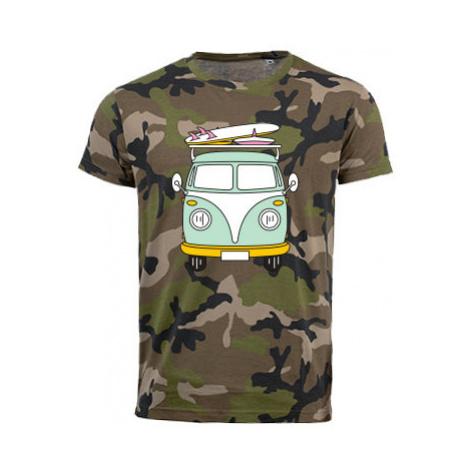 Pánské maskáčové tričko Camper Van