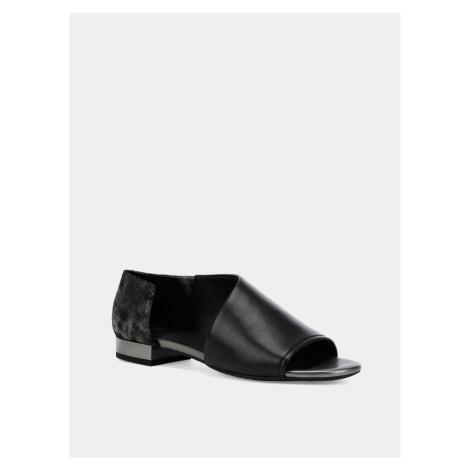 Geox černé kožené sandály
