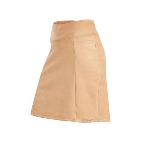 Dámská semišová sukně Litex 7A083 | béžová
