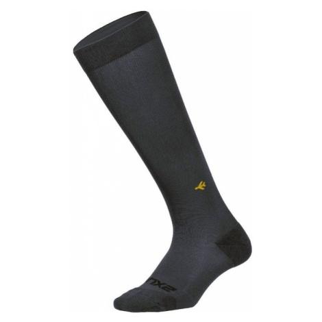 2XU kompresní ponožky Flight Socks Ultralight titanium