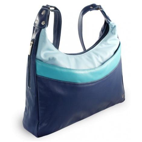 Modrá kožená dámská kabelka Gondolien Arwel
