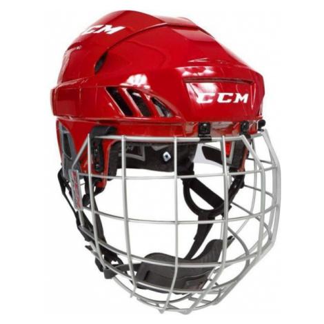CCM FL60C SR COMBO červená - Hokejová helma