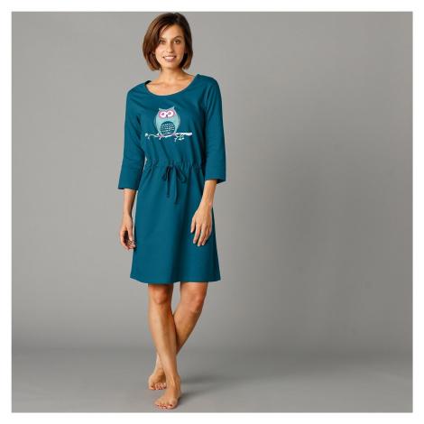 Blancheporte Noční košile s potiskem sovy jedlová zelená
