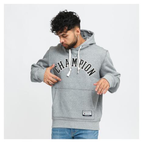 Champion University Hooded Sweatshirt melange šedá