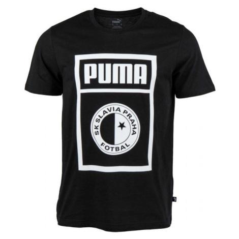 Puma SLAVIA PRAGUE GRAPHIC TEE černá - Pánské triko