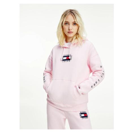 Tommy Jeans dámská růžová mikina Tommy Hilfiger