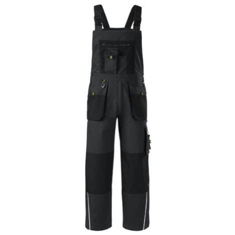 RIMECK Ranger Pánské pracovní kalhoty s laclem WX494 eben šedá