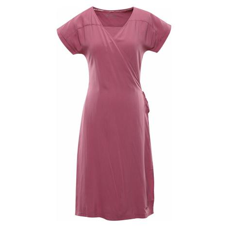 ALPINE PRO SOLEIA Dámské šaty LSKR225893 bordeaux