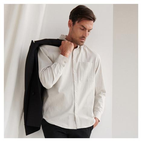 Reserved - Elegantní kalhoty s nažehleným pukem - Černý