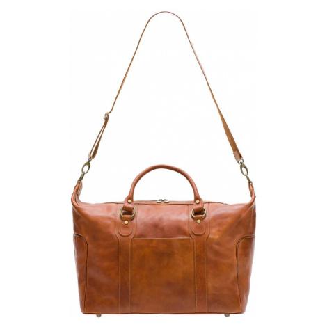 Kožená cestovní taška - hnědá Glamorous