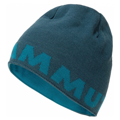 Čepice Mammut Logo Beanie - modrá / šedá