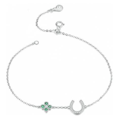 Linda's Jewelry Stříbrný náramek Lucky Podkova Ag 925/1000 INR086