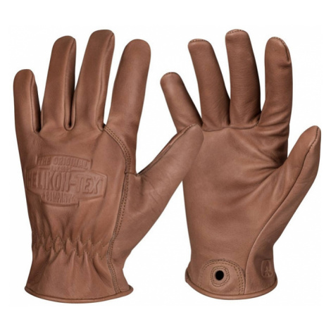Kožené rukavice HELIKON Lumber Gloves - Brown