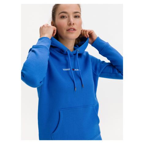 Linear Logo Mikina Tommy Jeans Modrá Tommy Hilfiger