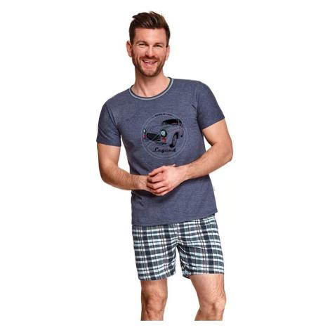 Pánské pyžamo Šimon tmavě modré Taro