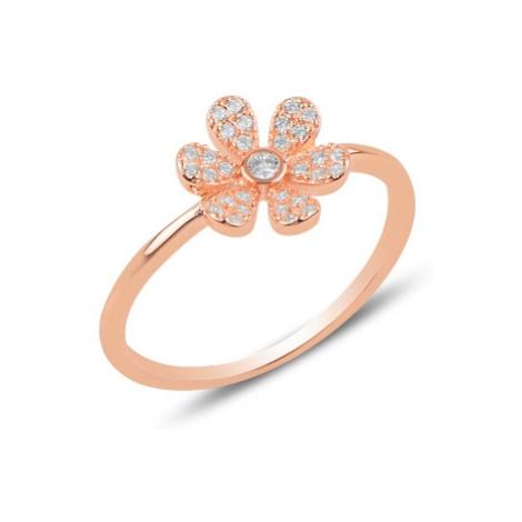OLIVIE Stříbrný květinový prsten ROSE 3184