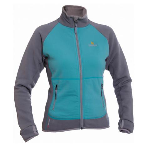 Dámská bunda Warmpeace Mandy Lady Powerstretch menthol/frost grey
