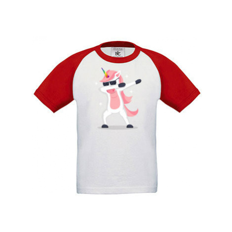 Dětské tričko baseball DAB Jednorožec