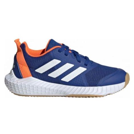 adidas FORTAGYM K modrá - Dětská sálová obuv