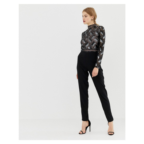 Frock & Frill high neck tailored jumpsuit with embellished detail Frock and Frill