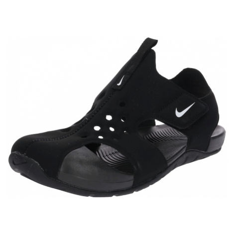 Nike Sportswear Otevřená obuv 'Sunray Protect 2' černá / bílá