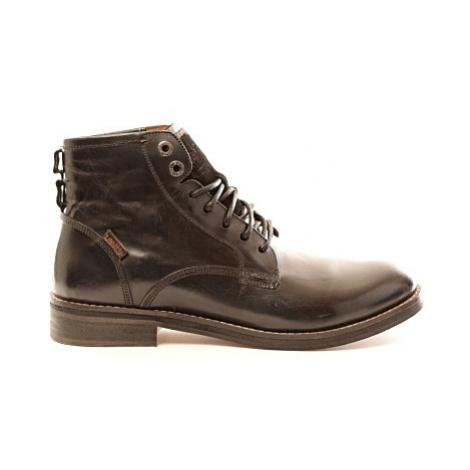 Kožené kotníkové boty Levi´s® Baldwin černé