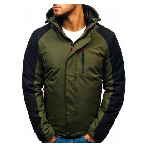 Zelená pánská zimní bunda Bolf HZ8102 RED FIREBALL