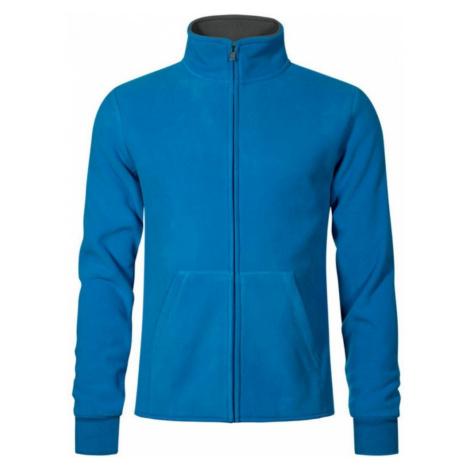 Pánská dvojitá fleece bunda P7971 - Modrá