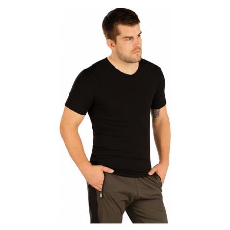 Pánské triko s krátkým rukávem Litex 99486 | černá