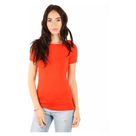 Tommy Hilfiger dámské červené tričko Jada