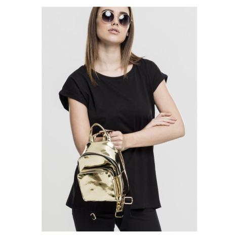 Mini Metallic Backpack - gold Urban Classics