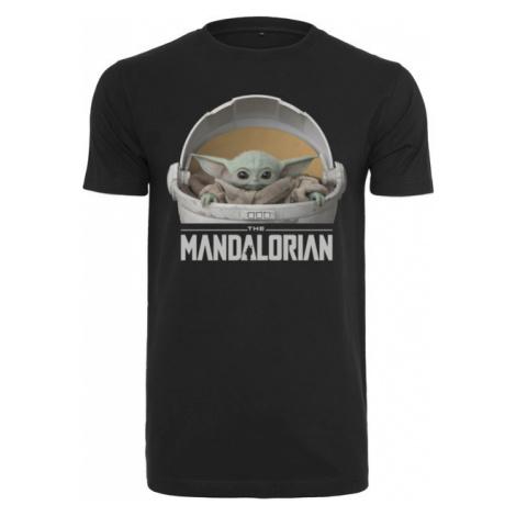 Mr. Tee Baby Yoda Mandalorian Logo Tee black