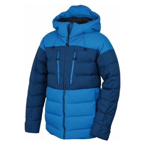 Husky Dester M, modrá/tm.modrá Pánská péřová bunda