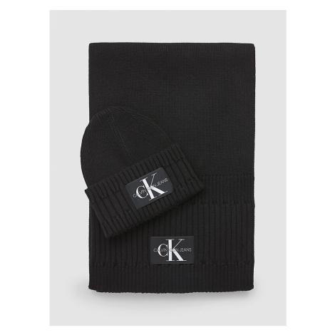 Calvin Klein Calvin Klein pánská černá dárková sada- čepice a šála