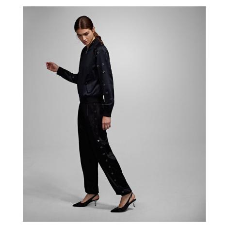 Kalhoty Karl Lagerfeld Jogger Pant W/ Eyelets - Černá