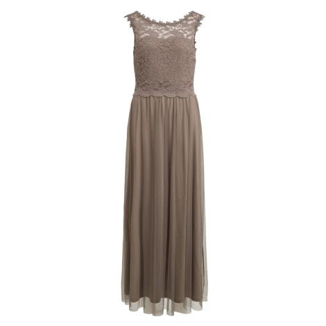 VILA Společenské šaty 'Lynnea' šedobéžová
