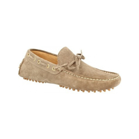 Leonardo Shoes C01 CAMOSCIO FANGO Hnědá