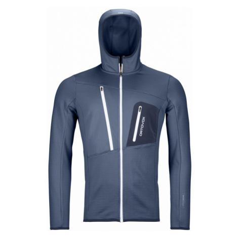Pánská mikina Ortovox Fleece Grid Hoody night blue